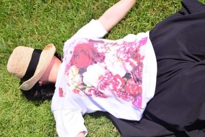 Tシャツ 可愛い 花 プリント