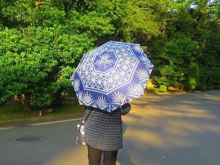 160430 切子ガラス模様の日傘
