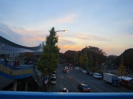 20161120 原宿の夕日