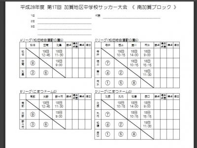 南加賀ブロック大会(H28年)