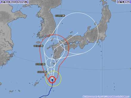 台風12号 2