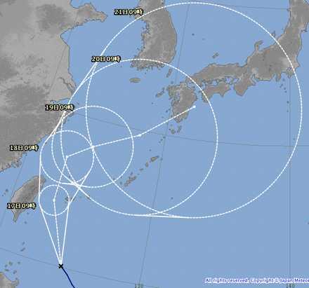 台風16号 4