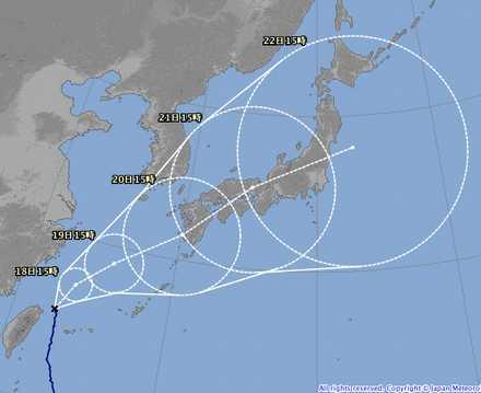 台風16号 6