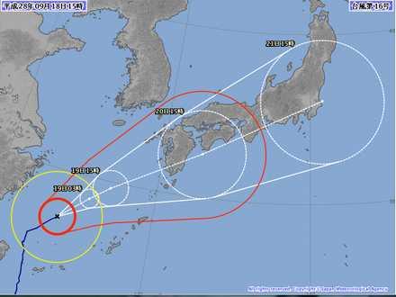 台風16号 7