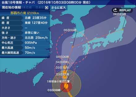 台風18号 4