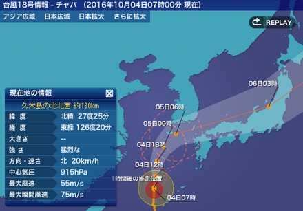 台風18号 8