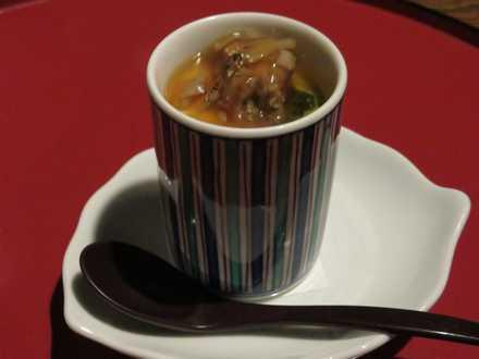 夕食7 フォアグラ茶碗蒸し