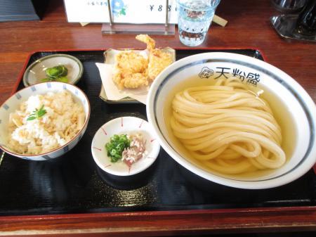 冷やかけ天ぷらセット