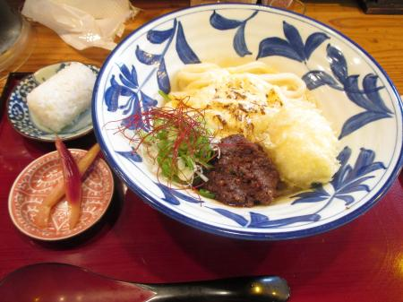 焼きチーズ釜玉~八丁肉味噌ソース~