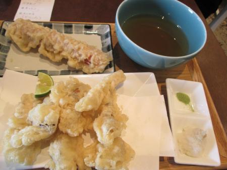 松茸の天ぷら+ちくわ天