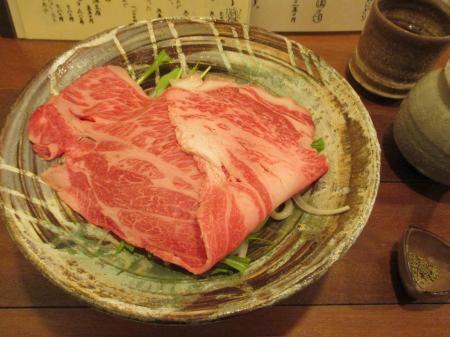 国産和牛しゃぶ肉のおうどん