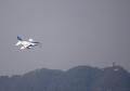 Kawasaki T-4 【JASDF/46-5728(2)】ブルーインパルス2号機と岐阜城(20161106)