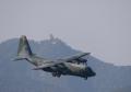 C-130 Hercules 【JASDF/45-1074】C-130と岐阜城(20161106)