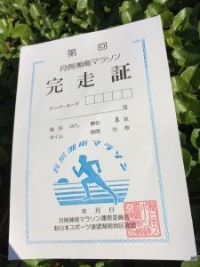 20161106月例湘南完走証