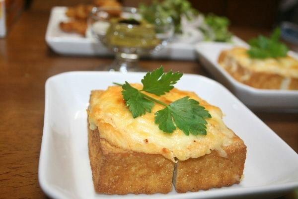 厚揚げの明太マヨチーズ