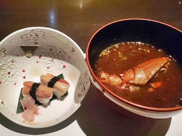 お寿司と赤だし