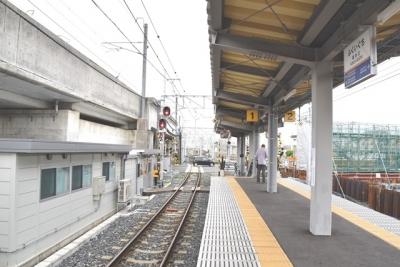 仮設の福井駅