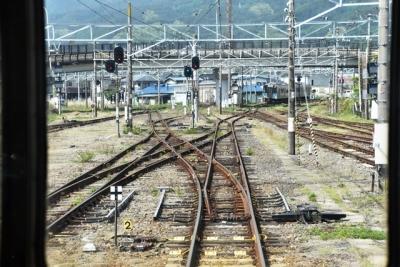 JR辰野駅右手が辰野支線