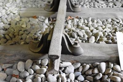 鉄道開通当時の双頭レール