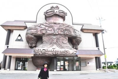 JR木造駅にて記念ショット