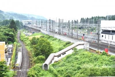 奥津軽いまべつ駅青函トンネル方面の眺望