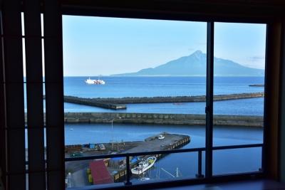礼文島ホテルの部屋からの眺め