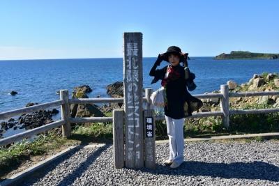 最北限の地スコトン岬で記念ショット