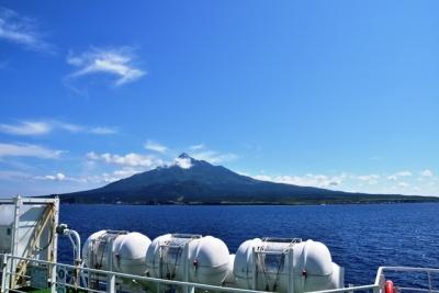 サイプリア宗谷号から眺める利尻島