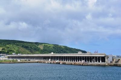 船上から望む北防波堤ドーム