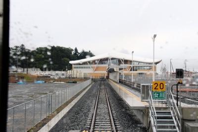 復旧した女川駅