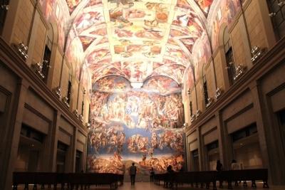 ミケランジェロ・システィーナ礼拝堂天井画壁画