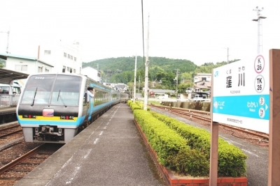 2000系特急あしずりとJR窪川駅