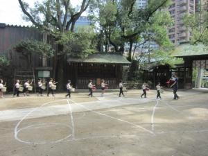 幼稚園運動会練習1