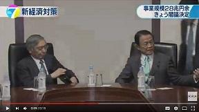 麻生副総理と黒田総裁が会談