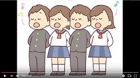8月16日中継、南牧中生徒がジングル歌う