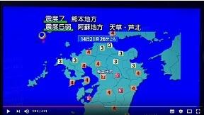 熊本地震発生(震度7)の瞬間