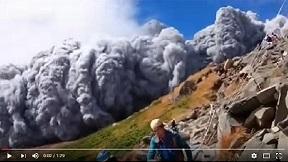 御嶽山噴火の瞬間