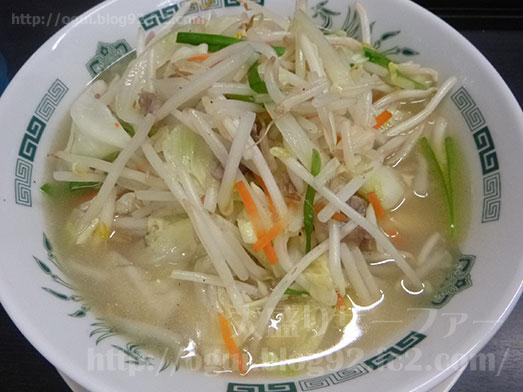 日高屋の野菜たっぷりタンメン084