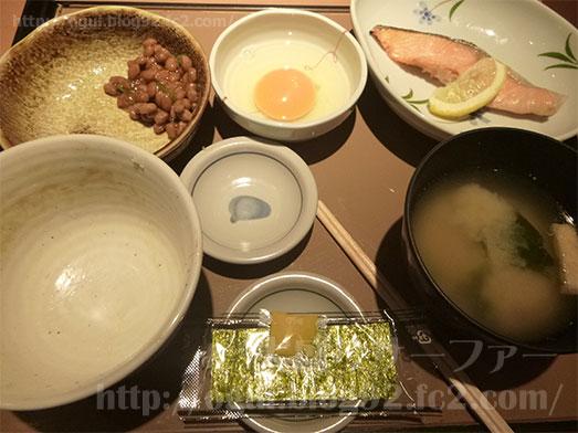 朝食メニューの銀鮭定食145