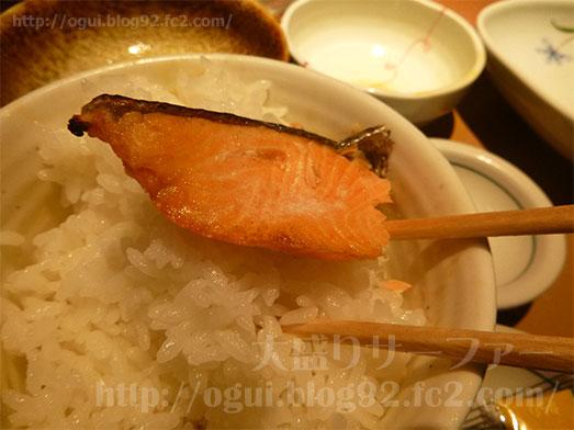 銀鮭定食ご飯おかわり155