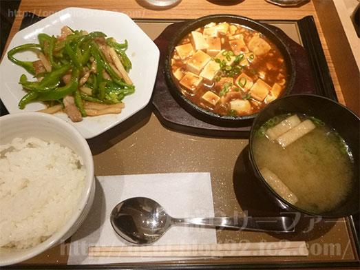 ご飯がすすむ青椒肉絲と麻婆豆腐204