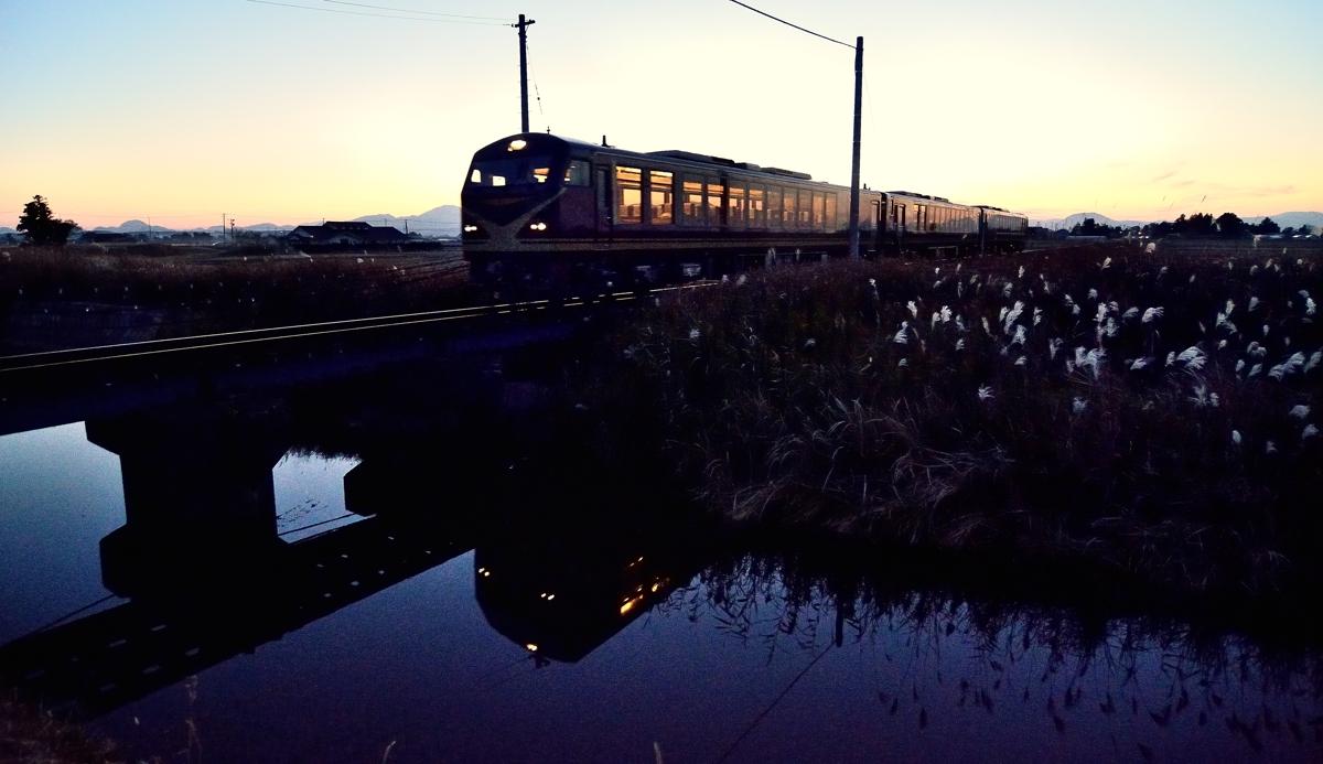 夕焼けの陸羽東線 023-2s