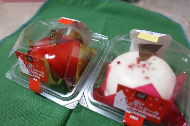 クリスマスケーキ 赤と白 (1)