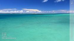 沖縄,デスクトップカレンダー,8月,海,糸満