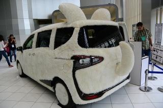 トヨタ会館 ふわもふ可愛い「ドッグカー」