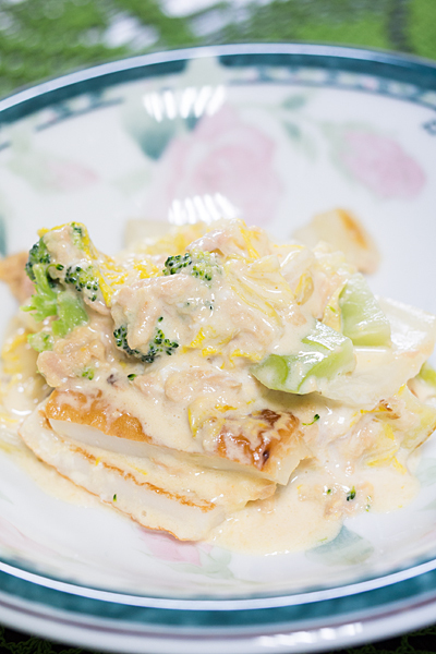 白菜のクリームソース風