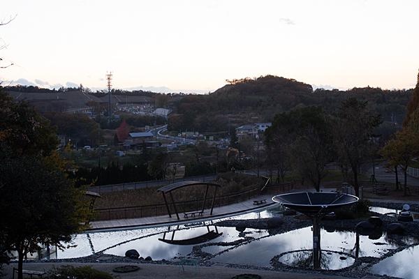 水の広場の夕景