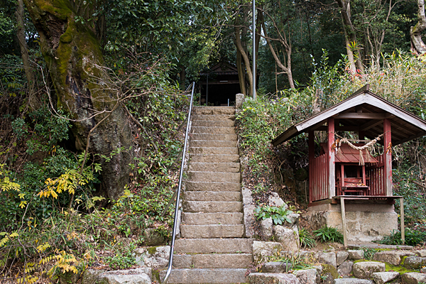 八幡神社石段と津島社