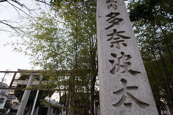 多奈波太神社入り口と笹