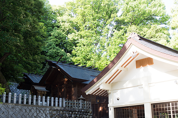 八事神社拝殿と本殿